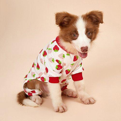 1pcs Cotton Dog Pajamas Pet Clothes For Small Dogs Cat Pyjama Dog Puppy Jumpsuit for Medium Dogs Sleepingwear Warm Clothing Coat