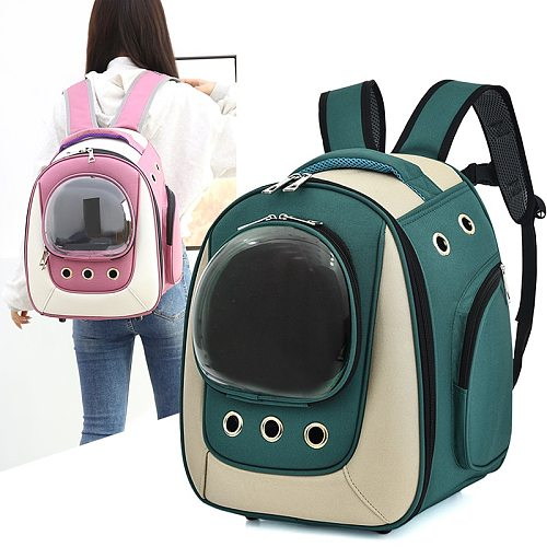 WaterProof Pet Cat backpack Pet Dog Carrier Bag Bubble Large Space Pet Carrier Backpack for Cat and Small Dog Outdoor Handbag