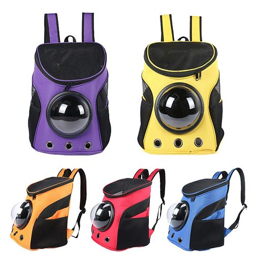 Pet Carrier Astronaut Space Capsule Backpack for Cats Small Dogs Portable Doggie Kitten Cat Travel Bag Outdoor Puppy Supplies
