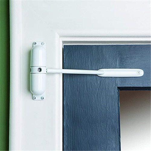White Spring Closing Door Zinc Alloy Adjustable Surface Mounted Automatic Door Closer Fire Rated Door Stopper Door Hardware