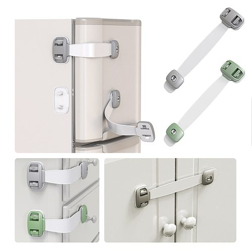 1pc Safety Lock Baby Child Safety Care Plastic Lock With Baby Baby Protection Drawer Door Cabinet Cupboard Toilet Household Lock