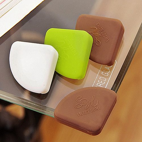 4pcs Baby Safety Corner Protector Silicone Table Corner Protection Children Furniture Corner Protectors Table Edge Guard Cover