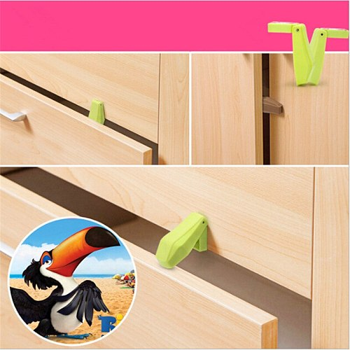 4Pcs Protection Baby Safety Cute Security Drawer Stopper Baby Card Lock Newborn Care Child Finger Protector