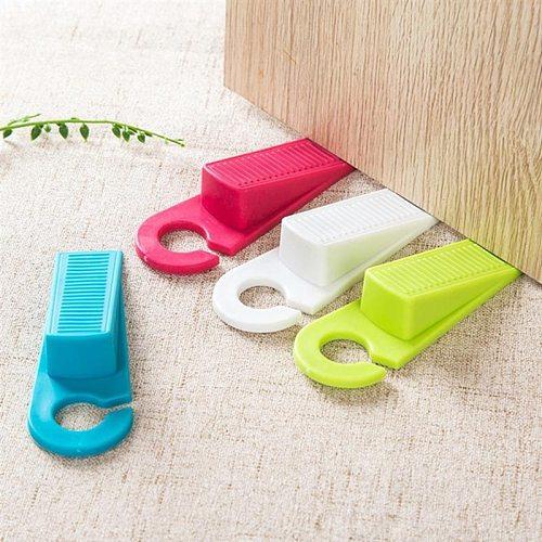 Safety locks Silicone Rubber Door Stop Stoppers Door Block Children Anti-Folder Hand Security Door Card Hanging Door Stop