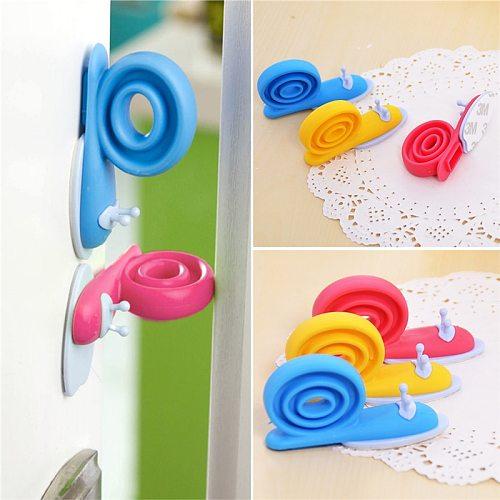 3pcs/Set Door Stopper Doorknob Wall Protection Children Door Stopper Holder Shockproof Door Crash Pad Children Finger Protecter