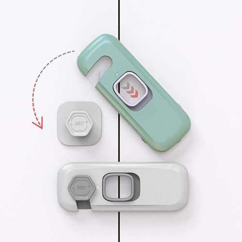Home Refrigerator Freezer Door Lock Catch Toddler Kids Child Cabinet Locks Baby Safety Child Lock