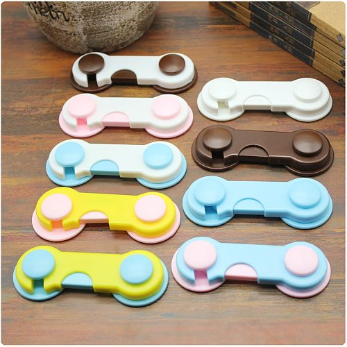 5pcs Plastic Cabinet Lock Child Safety Baby Protection From Children Safe Locks for Refrigerators Baby Security Drawer Latches