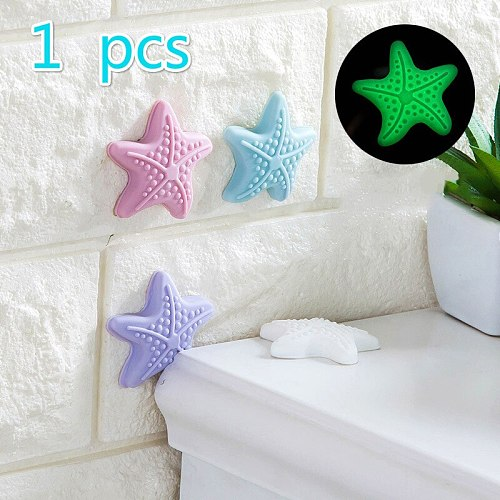 1pcs Door Handle Anti-collision Pad Wall Protection Sticker Starfish Shape Light-emitting Table Corner Safety Protection
