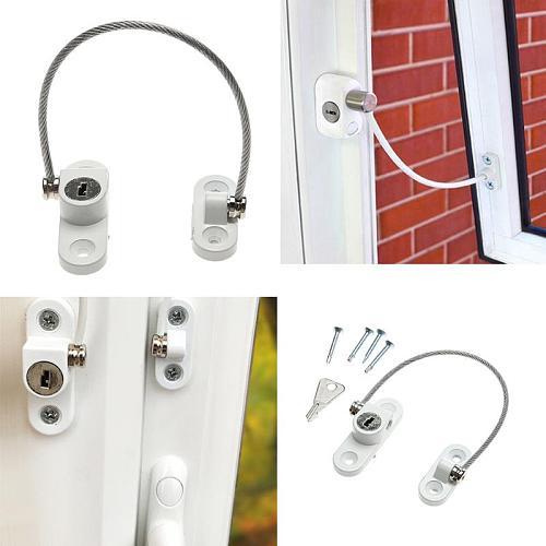 Stainless Steel Window Security Chain Lock Door Restrictor Home Sliding Door Lock Child Safety Anti-Theft Locks Hardware