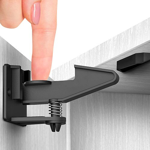 10 Pcs Child Protection Baby Security Cabinet Door Lock for Kids Safety Baby Lock Drawer Lock Invisible Child Locks
