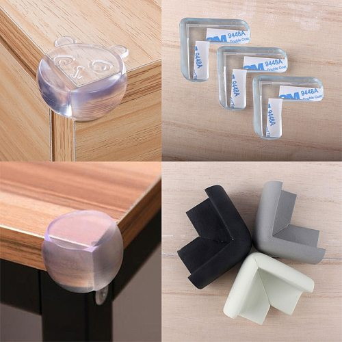 8Pcs Kids Baby Child Safety Silicone Protector Table Corner Edge Protection Cover Children Anticollision Edge & Guards