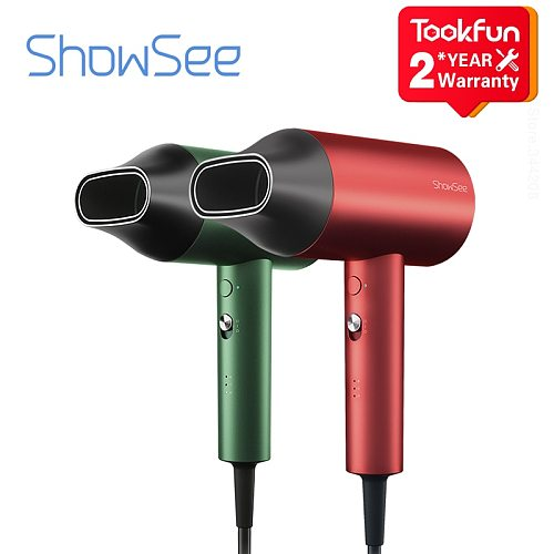 SHOWSEE A5-R G Anion Hair Dryer Negative Ion hair care Professinal Quick Dry Home 1800W Portable Diffuser Constant