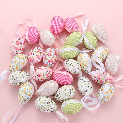 9PCS/Set 2021 New Creative Easter Cloth Egg Decoration Hanging Ornaments Easter Egg Toy Gifts Home Decor Party Ornaments