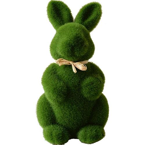 Easter Decor Artificial Moss Bunny Garden Statues Ornaments Durable Lightweight Artificial Animal Ornament For Cupboard Office