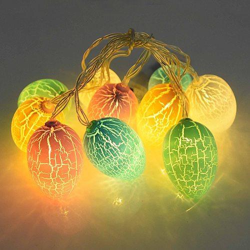 10Leds Easter Decorations For Home Egg Rabbit Led String Light Easter Bunny Fairy String Lights Wedding Party Ornament Garland