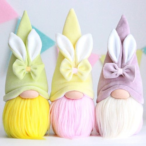 25# Easter Day Gnome Rabbit Faceless Doll Decorations Bedroom Living Room Desktop Desktop Decoration Standing Post Kids Gift