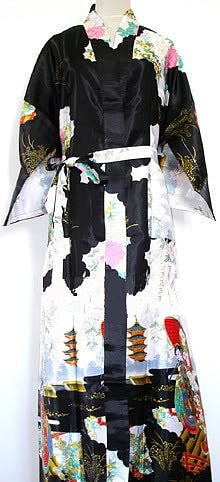 New Arrival Black Chinese Women's Silk Rayon Robe Kimono Bath Gown Spring Mujer Pijama Nightgown Size S M L XL XXL XXXL Zhs02E