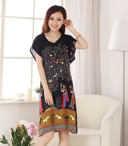 New Arrival Chinese Women's Cotton Robe Bath Gown Yukata Nightgown Sleep Tops One Size Flower Nuisette Pijama Mujer X34026