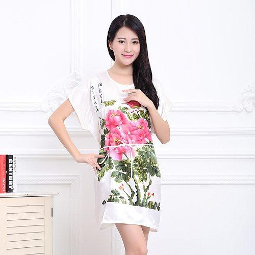 Fashion Women's Summer Robe Chinese Lady Rayon Bath Gown Yukata Nightgown Nuisette Pijama Mujer One Size Hot Sale Xsz023