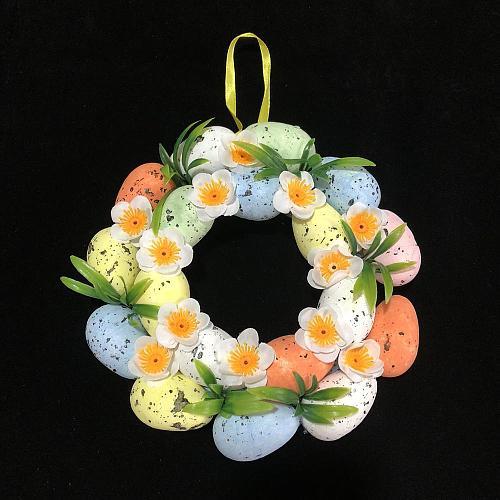 1 Pcs Easter Colorful Foam Garland Multi-color Eggs 3*5cm Simulation Bird Dove Egg Holiday Decoration
