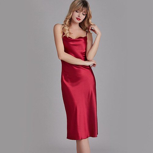 Sexy Loose Robe Gowns Womens Nightdress Sleeveless Solid Strap Nightgown Lounge Dress Summer Sleepwear Home Clothes