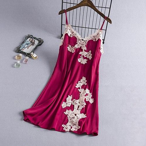 Sexy Robes Womens Negligee V-Neck Sleeveless Gown Nightgown Summer Sleepwear Sleepshirts Strap Dress Lingerie Homewear