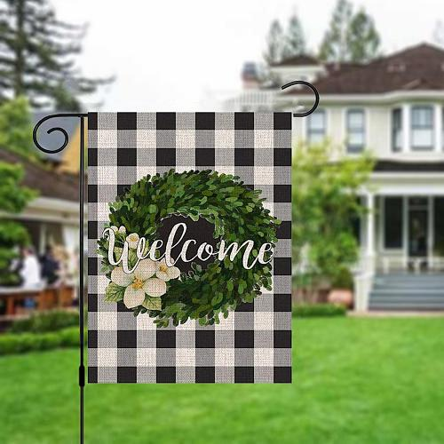 Mother's Day Burlap Garden Flag Welcome Sign Flags and Banners Garden Decoration Animal House Flags Home Decoration