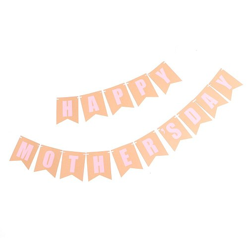 Letters Bunting Creative Banner Layout Mother's Day Decor Flag Party Background Supplies