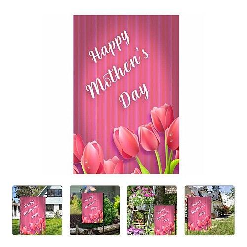 Happy Mother's Day Garden Banner Decorative Outdoor Flag Garden Banner Decor