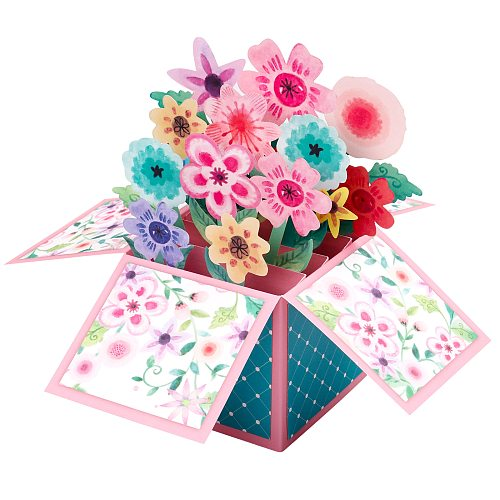 3D Bouquet Card - Perfect for Birthday, Thank You, Anniversary, Mother's Day card Handmade Cards for All Occasions