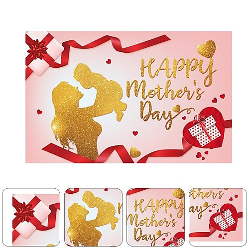 1pc Mother's Day Background Cloth Banner Holiday Atmosphere Party Hanging Cloth