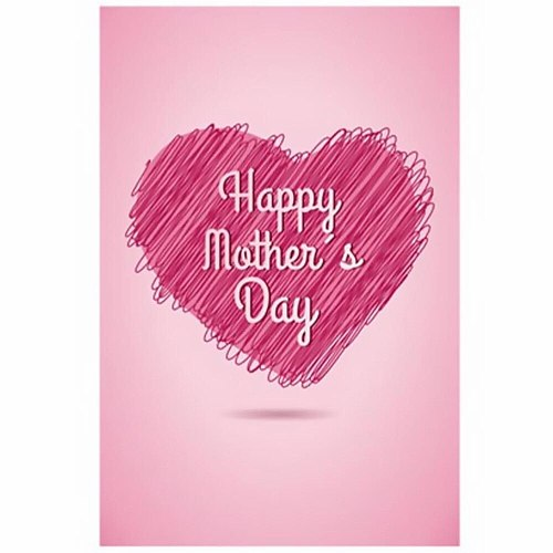 1pc Mother's Day Flag Words Heart Printed Yard Lawn Garden Flag Banner