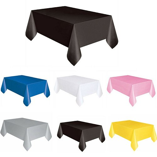 137x183cm Rectangle 6 Colours Wedding Party Tablecover Table Cover Cloth Plastic Tablecloth Birthday Catering Events Tableware