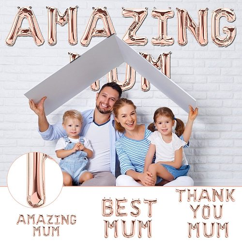 Inflatable Letter Suprise 16 Inch Mother's Day Decoration Banner Party Balloon-best Mom-amazing Suprise Event Party Supplies