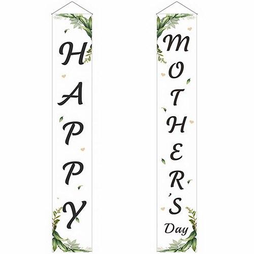 1 Pair Mother's Day Door Banner Delicate Door Banner Hanging Door Banner