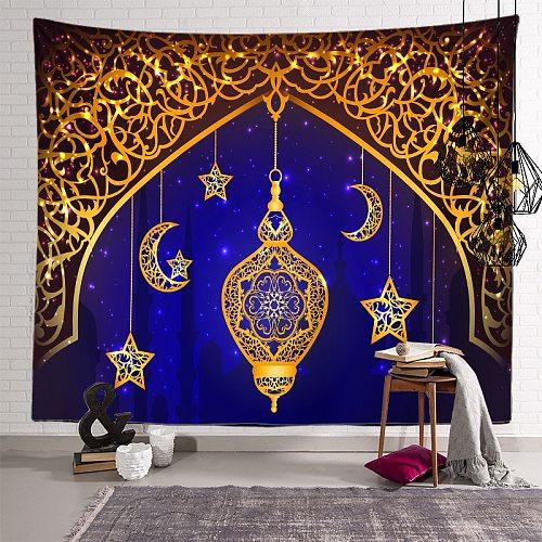 Ramadan Decorations For Home Tapestry Moon Star eid mubarak Wall Hanging Tapestries Ramadan Kareem Decor for Living Room Bedroom