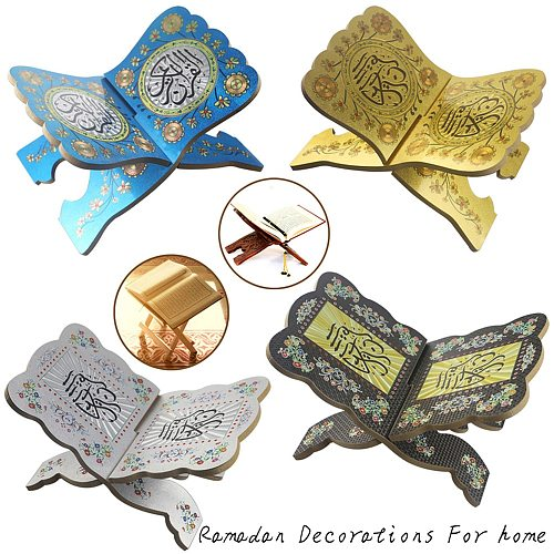 Wood Biblical Bookshelf Ramadan Decoration Eid Mubarak Decor Ramadan Decorations for Home Aid Mubarak Decoration Party Supplies