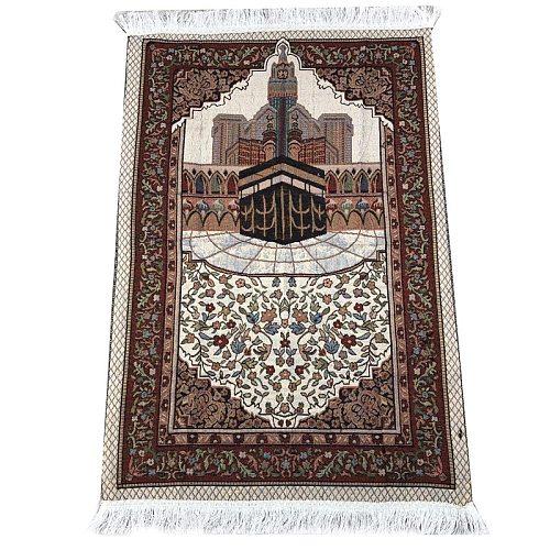 Muslim Prayer Rug Islamic Carpet Mat For Muslim Prayer tapis de priere Islam Braided Mats Vintage Pattern Eid Rugs Tassel Decor