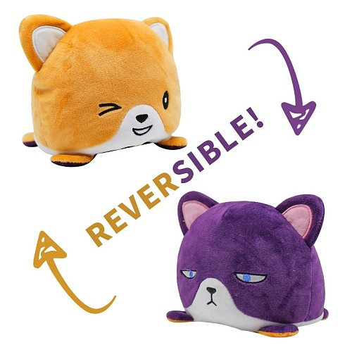 Kawaii Two-sided Cat Unicorn Plush Toys Mood Octopus Emotion Cat Gato Doll Double-Sided Flip Doll Peluches For Pulpos Kid Gift