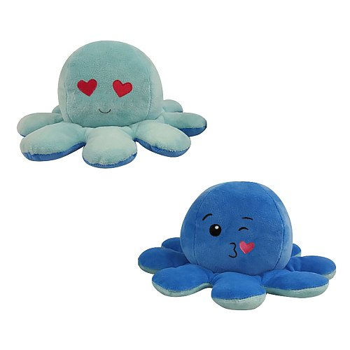 2021 Plush Toy Plush Toy Octopus Soft Christmas Gift Octopus Doll Double-sided Flip Funny Emotional Doll Mold Mood Octopus