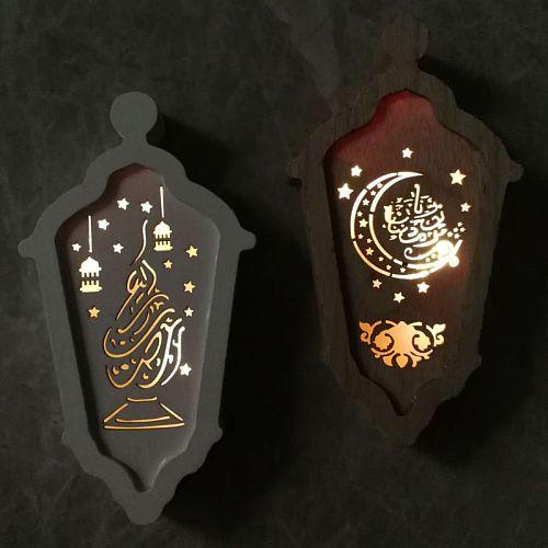 Eid LED Light Lantern Ramadan Festival Party Decorations Mubarak Muslim Islamic