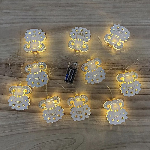 Eid Mubarak Led Light String Eid Al Adha Sheep Series Light String Decorative String Light Ramadan Muslim Festival Lamp Ramadan