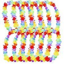 20pcs hawaii christmas wreath door decoration hawaiian party artificial flower garland necklace luau torpil