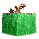 Table Skirt for Tropical Hawaiian Party Decorations Luau Party Decorations Supplies Adult's Kid's Birthday Table Cover Decor