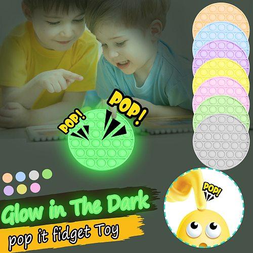 Stress Relief Toys Push Pop Bubble Fidget Silicone Toys For Kids Anti Stress Luminous Pop It Toy Figet Popit Popcorn juguetes (Wholesale Support)