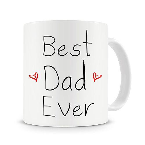 Best Dad Ever Mug,ceramic 11oz Coffee Mug,Fathers Day Mug,Daddy Mug Cup Gift for Dad Drop Shipping
