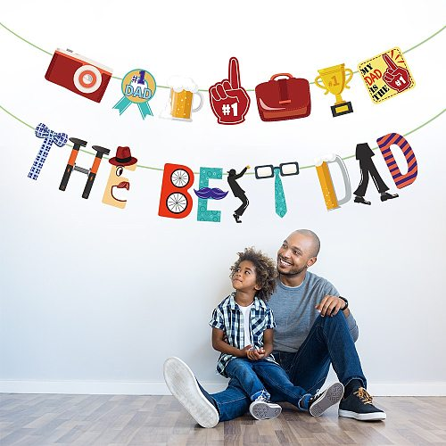 The Best Dad Party Hanging Banners Happy Father's Day Party Decorations Happy Birthday to Father Party Supplies
