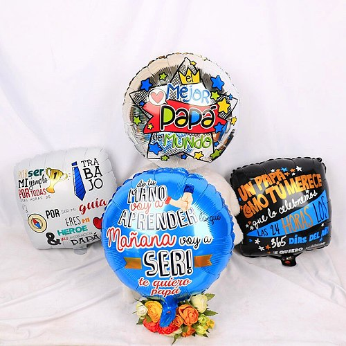 8pcs Feliz Super Papa Balloon Round Air Foil Balloon Kids Father Party Decorations Balloon Helium Mothers Day Inflatable Globos