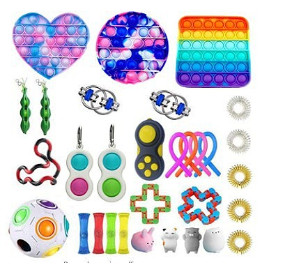 1set Fidget Toys Anti Stress Set Stretchy Strings Toys Gift Pack For Adults Kids Squishy Sensory Antistress Relief Fidget Toy (Wholesale Support)