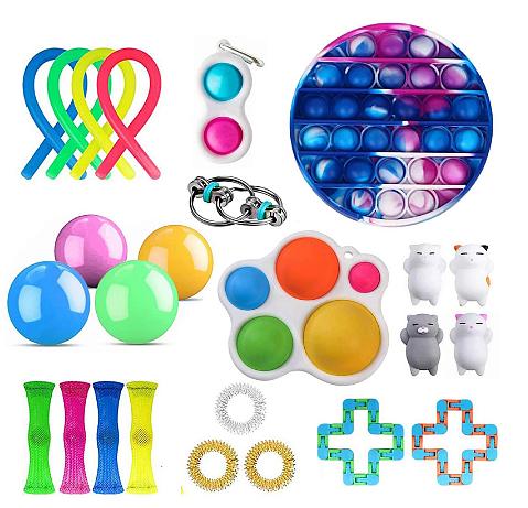 1 set Fidget Toy Set Cheap Sensory Fidget Toys Pack for Kids or Adults Decompression Toy fidgets toys pack